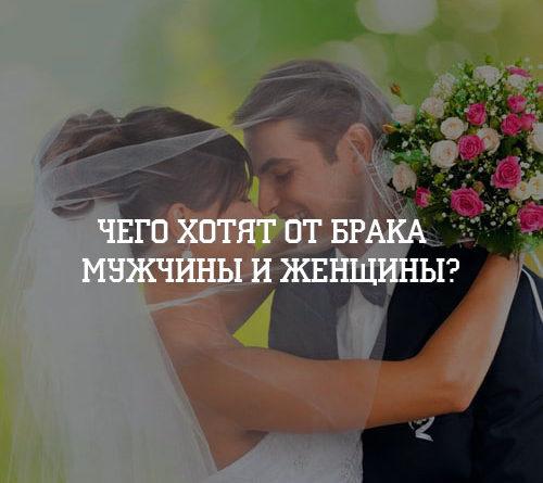 Чего хотят от брака мужчины и женщины