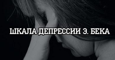 Шкала депрессии Бека