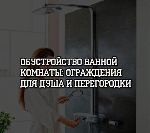 Обустройство ванной комнаты Ограждения для душа и перегородки
